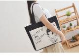 Maré simples do saco da lona do saco de ombro do estudante literário fêmea do saco do saco da lona do lazer única