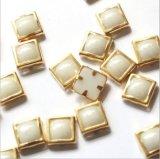 Het metaal omrandde de Hete Ceramische Parels van de Moeilijke situatie van het Bergkristal van de Stenen van de Moeilijke situatie Ceramische Hete voor de Decoratie van de Kunst van de Spijker (HF-Vierkant 6mm)