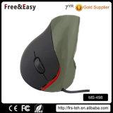 人間工学的デザイン卸売Deluxによってワイヤーで縛られる3D光学USBマウス