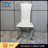 贅沢なデザインローズの金ステンレス鋼の十字の背部食事の椅子