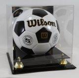 Cas d'exposition acrylique fait sur commande de bille de football
