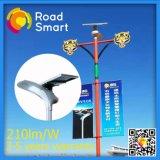 2017 Lámpara de calle solar de moda con sensor de movimiento de microondas