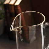 1.5Lは冷水の鍋の風邪の飲み物またはガラス水水差しまたは冷水の水差しまたはフルーツジュースの鍋のための側面のハンドルそしてふたが付いているガラス水差しを取り除く