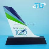 Aeroplano modelo de cola Artesanía de resina para regalo de negocios