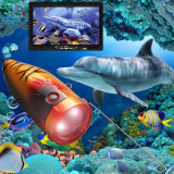 """De Onderwater VideoCamera van de Vinder van Vissen DVR met 30m 7 """" LCD HD"""