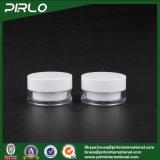 plastica 30g/vaso bianco doppio acrilico, contenitore cosmetico di figura rotonda, crema vuota