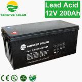 Bateria solar acidificada ao chumbo 12V 200ah do ciclo profundo livre do AGM da manutenção