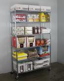 """NSF шкаф 6-Layer универсальный & сверхмощный промышленной стали провода Shelving с """" резина винта 3 катит -120X45xh180cm"""