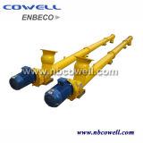 Transportador de tornillo espiral horizontal que hace la máquina