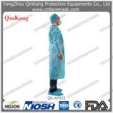 Nichtgewebtes chirurgisches Wegwerfkleid mit Gummiband/gestrickter Stulpe