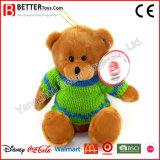 プラシ天の子供のおもちゃのテディはセーターに関係する