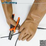 Luvas de isolamento da mão da borracha longa direta da segurança industrial do exportador
