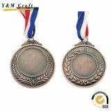 亜鉛合金の銅メダル、ブランクメダル、卸売のための安いスポーツメダル