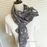 Верхний продавая шарф способа полиэфира листьев горячий штемпелюя (HP14)