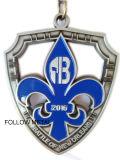 Medaille für Kampf von New Orleans, weicher Decklack, antikes Silber