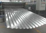 Lo zinco ondulato ha ricoperto lo strato d'acciaio del tetto galvanizzato mattonelle del metallo per i materiali da costruzione