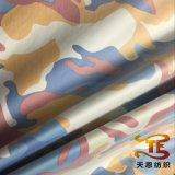 Ткань 100% полиэфира напечатанная камуфлированием с серебряной затыловкой для курток и одежды