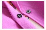 Capa de polvo de lana de la mujer del color de rosa de Rose