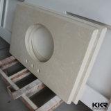 Parte superior de pedra acrílica Prefab da vaidade da bancada da cozinha do projeto moderno