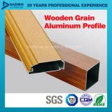 Perfil de alumínio de alumínio da extrusão da grão de madeira com cores diferentes