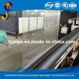 Tubulação do plástico de polietileno do padrão de ISO para o gás