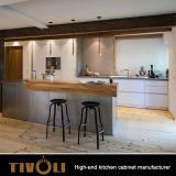 유럽 부엌 디자인 Tivo-0092h를 가진 기성품 백색 목제 부엌 찬장