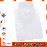 Men White Formal Business Vestido de algodão