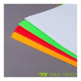 Papier auto-adhésif de papier fluorescent coloré