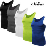 Dt0802 Neleusの男性圧縮のスポーツの上の摩耗のTシャツの適性の衣服