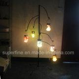 Luces solares de la calle del tarro blanco caliente del jardín que oscilan con la red del metal