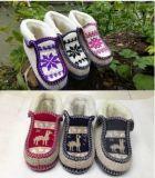 Ботинки Knit тапочки ботинок высокого качества сплетенные рукой