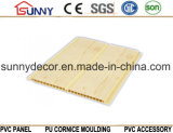 Matériaux de construction Laminage en plastique Panneau en bois Plafond en PVC, panneau mural décoratif