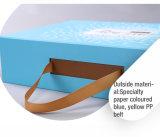 Doos van het Pakket van het Levensmiddel van het Karton van het Handvat van de Vrije tijd van Eco de Elegante