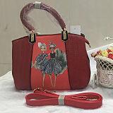 Bolsa bonita nova Sy8020 da impressão da alta qualidade do saco de Tote do plutônio da menina da forma do projeto