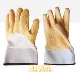 13Gポリエステルまたはナイロン乳液の波のしわの全面塗りの手袋