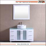 Weißer Lack-Glaseitelkeits-Oberseite-Badezimmer-Eitelkeit T9140-60W