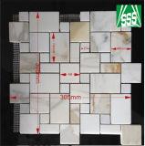 台所および浴室のフロアーリングのための自然で白いカラーラの大理石のモザイク・タイル