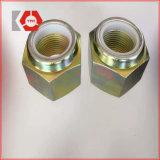 DIN985 de zware Hexagon Nylon gele) Geplateerde Noot van het Tussenvoegsel van het Zink (