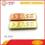 Plating Metal Logo con alta calidad para la decoración de bolsos