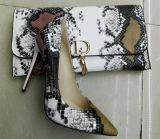 Chaussures de talon haut de configuration de serpent de ramassage et sacs neufs (G-7)
