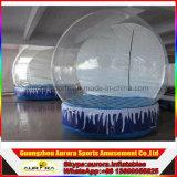 Aerostato della neve di natale, globo gonfiabile della neve per gli eventi