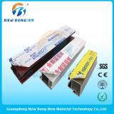 La ventana de acero plástica perfila el polietileno o las películas protectoras del PVC