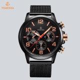 Edelstahlwasserdichte Wristband-Form-Sport-Quarz-Uhr-Mann-Chronograph-Uhr 72779