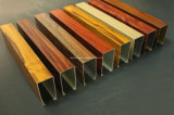 Perfil de alumínio de alumínio da extrusão da grão de madeira para o indicador & a porta