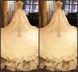 2017着のレースの純ビーズの人魚の花嫁のウェディングドレス6832