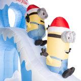 Fête des fêtes Jeu de Noël Inflatable Minion Slide Decoration
