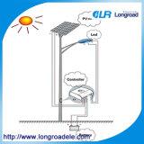 Luz de calle solar de 100 vatios LED, sistema solar de la luz de calle