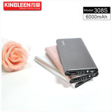 Kingleen Modèle C308s Power Bank 6000mAh Single USB 1A Sortie Vente directe en usine