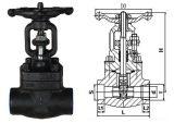 Válvula de porta de aço forjada padrão do ANSI da conexão do interruptor do Bw