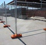Cerca movible galvanizada del metal de la construcción